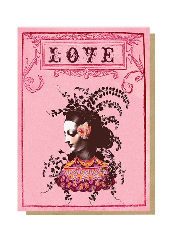 love cameo greeting card front