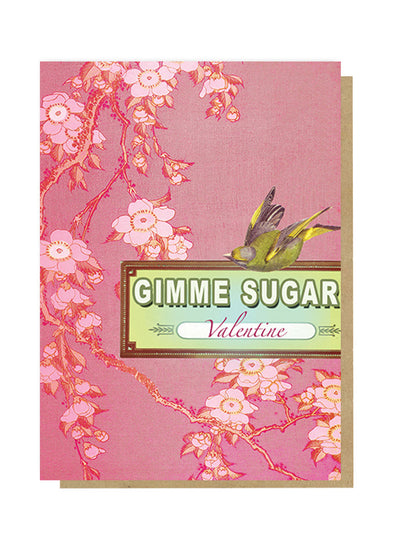 gimmie sugar valentine greeting card front