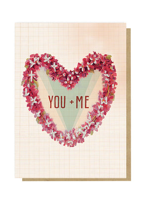 you and me greeting card front