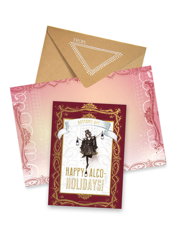 Happy Alco-Holidays Card with envelope