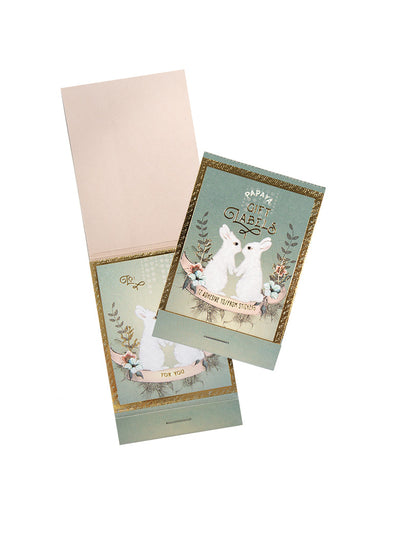 Gift Label, Holiday Bunnies