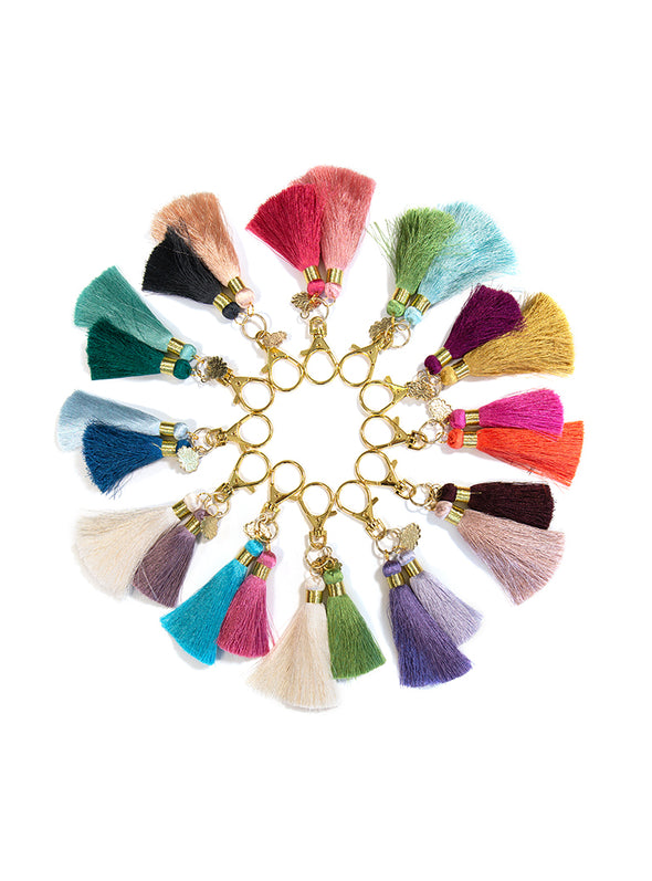 raw twin tassel clip all colors