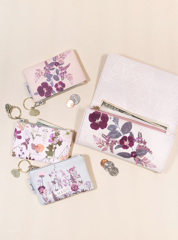 plum leaves wallets and coin purses