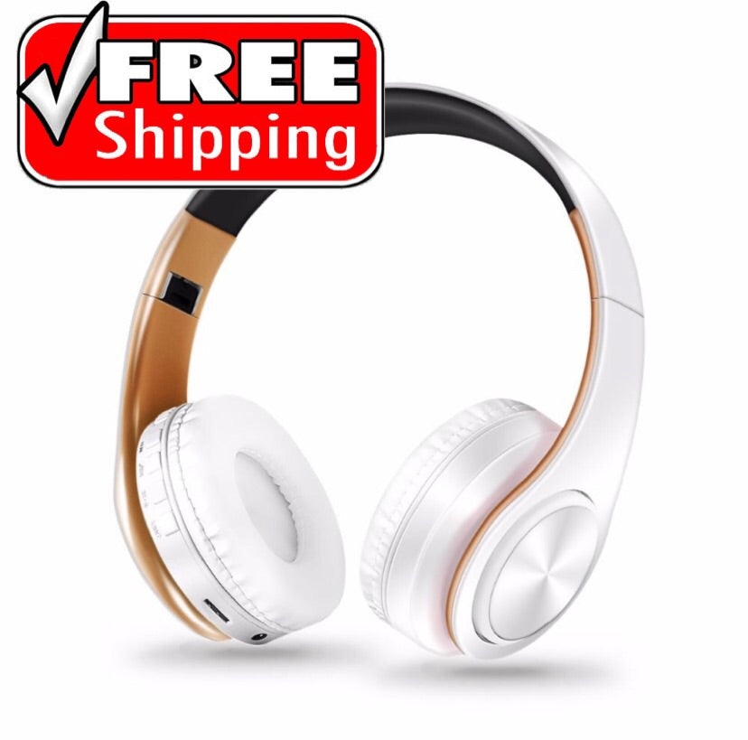 Stylish Bluetooth Wireless Headphones Over Ear Noise Cancelling W Mic Pizoshop