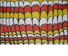 Ellen Roughsey 'Rainbow Serpent Scales'