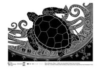 TEA TOWEL: Brian Robinson 'Waru (turtle) 1' - Blak Flair