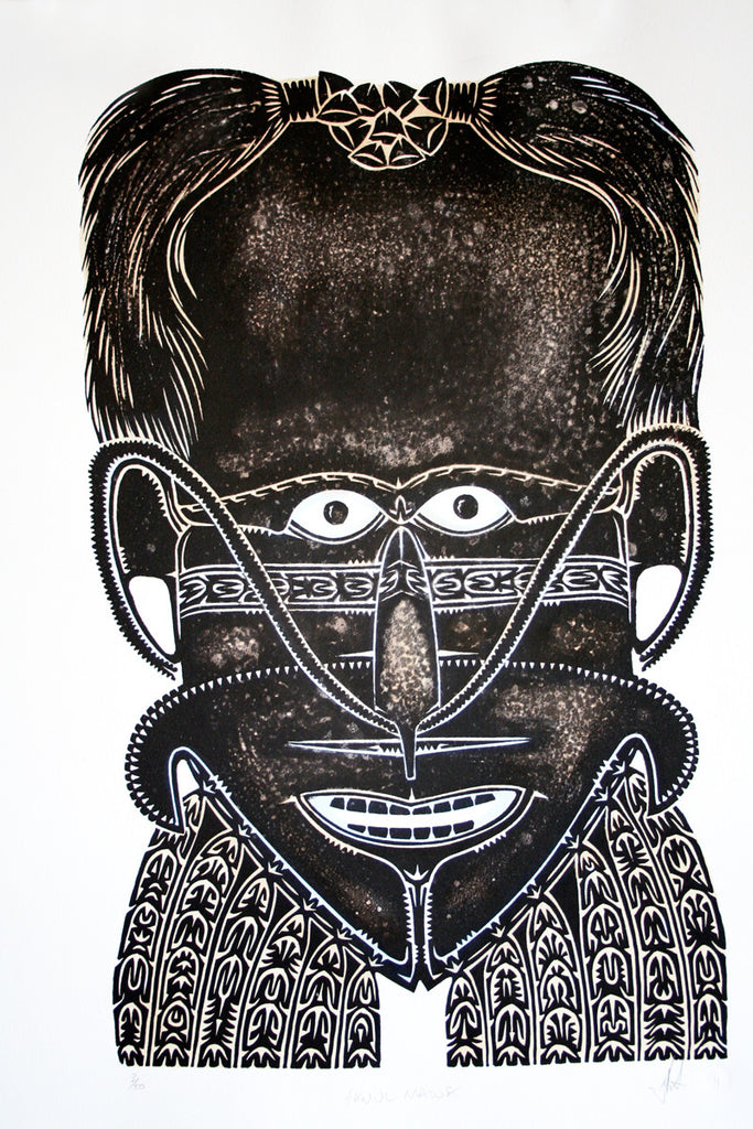 Alick Tipoti, Samul Mawa (sorcerer mask with cassowary feathers)