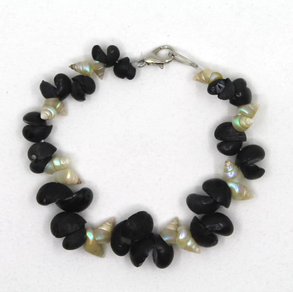 Lola Greeno 'Blue Maireener and  Black Crow shell' Bracelet