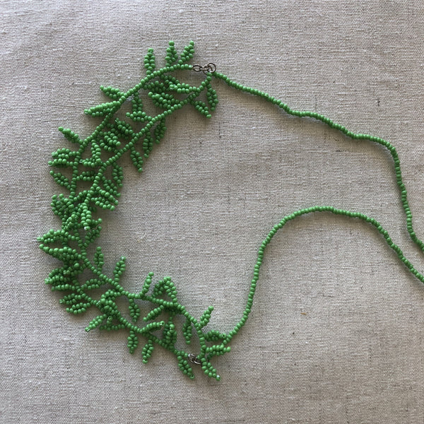Caroline Webb 'Lawyer Vine' green necklace