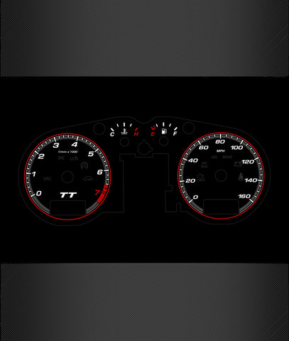 Audi TT Mk1 Illuminated Gauge Faces