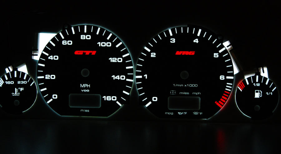 Mk3 Golf/GTI/Jetta Illuminated Gauge Faces