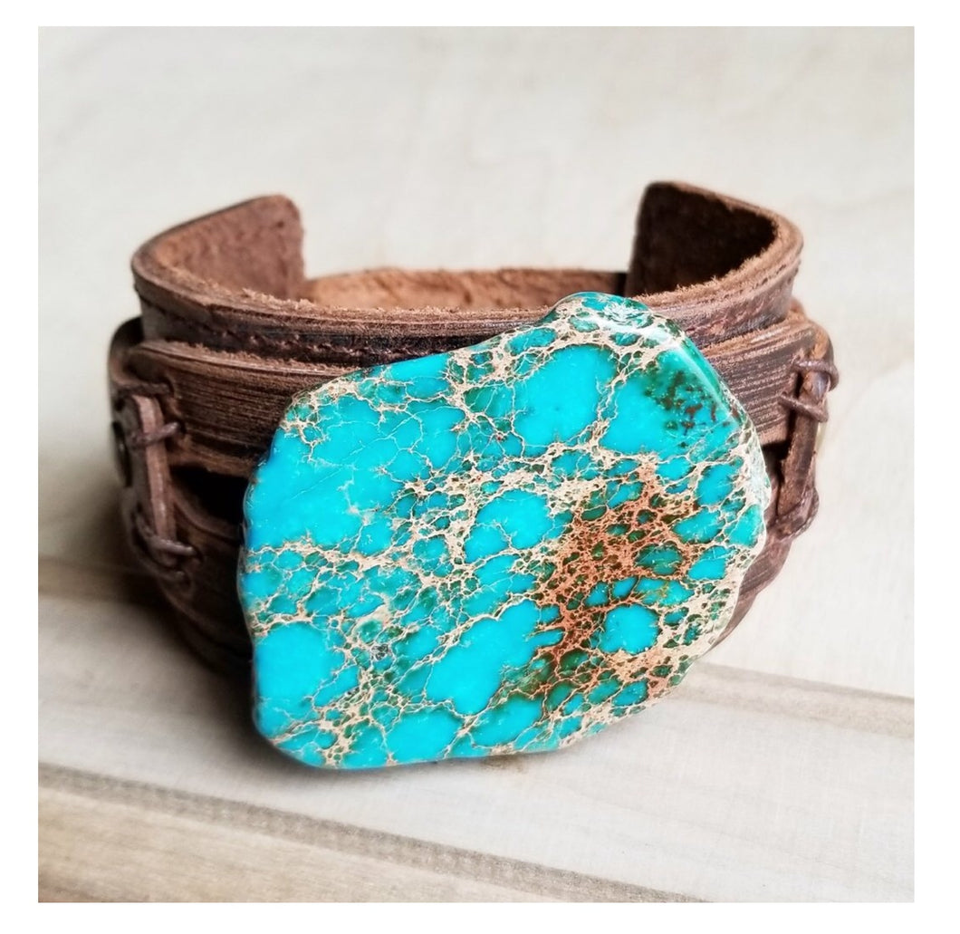 Dusty leather cuff