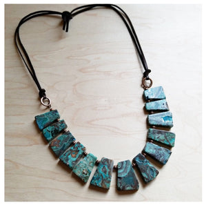 Ocean agate stone necklace