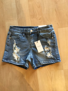 Denim shorts with cactus patches