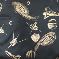 Science Rocket Space Design Polyester Scarf Long Vintage ScarvesiLove 002s27