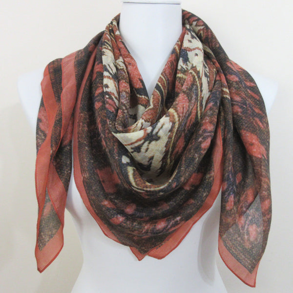 Abstract Design 100% Silk Scarf Square Vintage ScarvesiLove 004s76