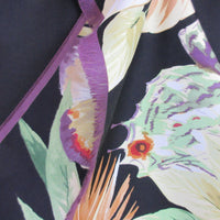 Floral Butterfly Design 100% Silk Scarf Long Vintage ScarvesiLove 005s52