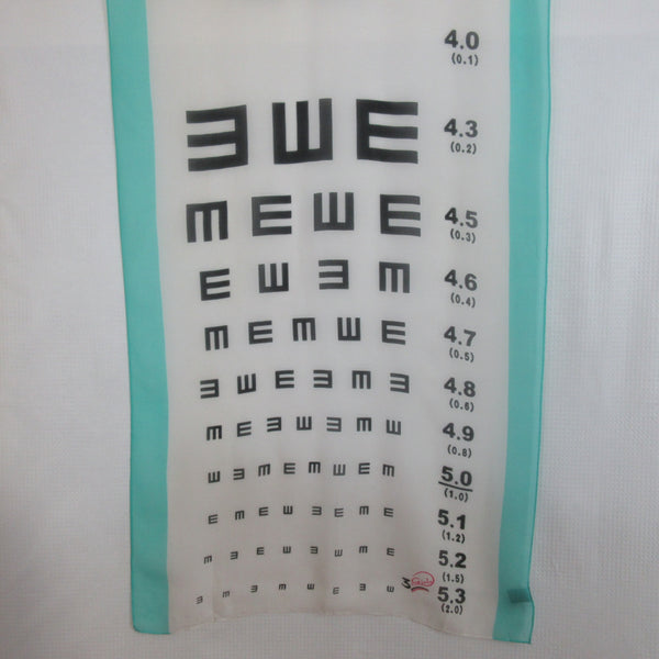 3 Girls Eye Chart Design 100% Silk Scarf Long Vintage ScarvesiLove 006s31