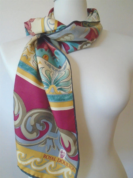 Royal Doulton Regal 100% SILK SCARF Long Designer ScarvesiLove 899s208