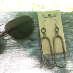 Upcycled Matte Gold Round Rope or Snake Chain Dangle Earrings - Hmmngbrds20