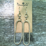 Upcycled Silver Round Rope or Snake Chain Dangle Earrings - Hmmngbrds19