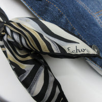 Neckluxe - Upcycled Echo Silk Scarf Statement Necklace EcoChic Hmmngbrds54