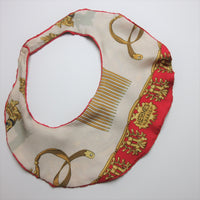 Neckluxe - Upcycled HERMES Silk Scarf Bib Statement Necklace EcoChic Hmmngbrds56