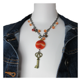 Upcycled Skeleton Key Necklace - hmmngbrds08
