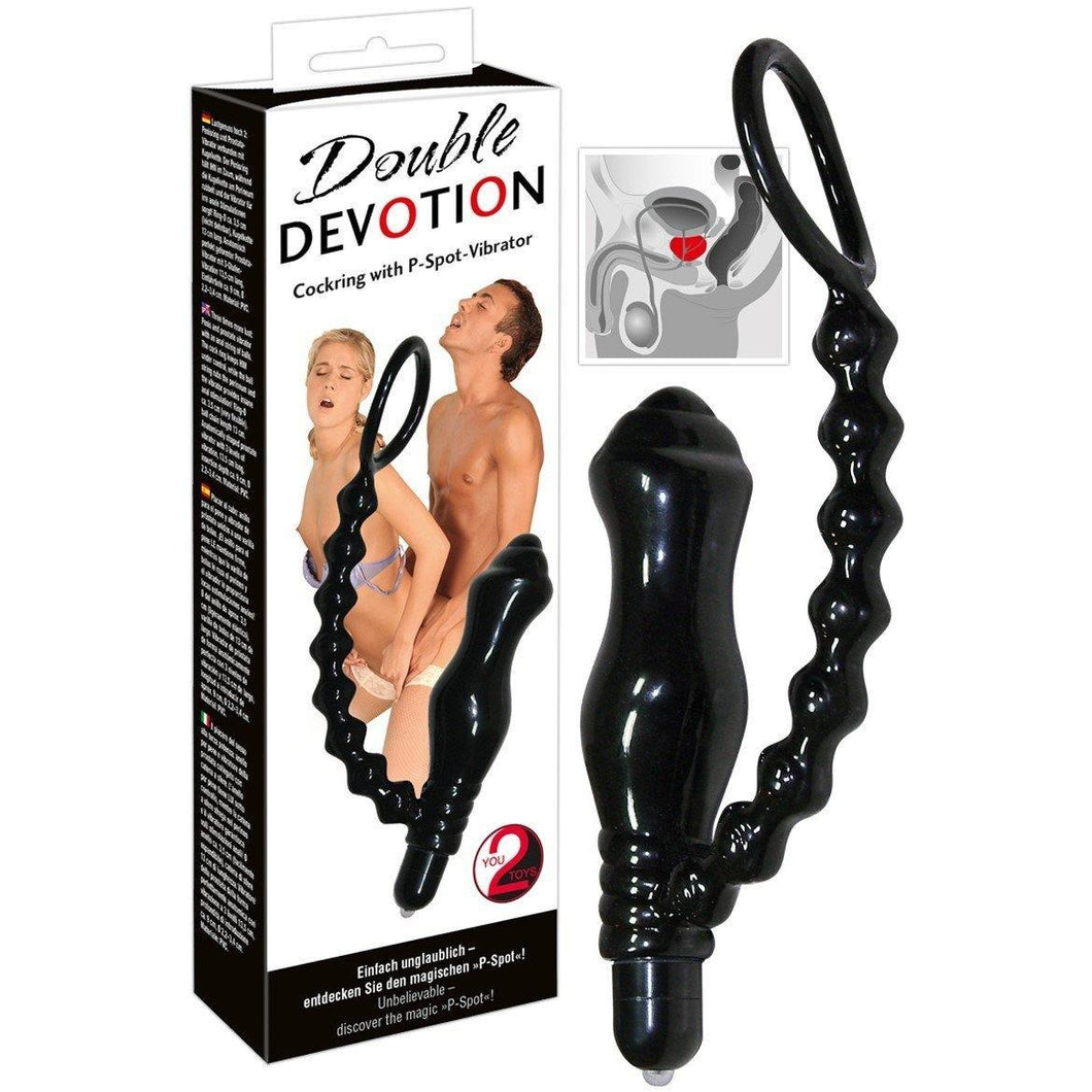 Vibromasseur anal et cockring Double Devotion