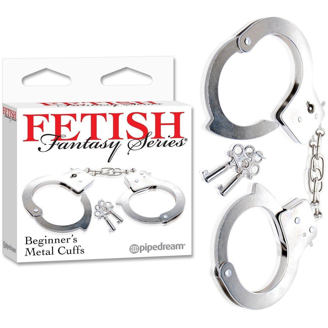 Menottes Beginner's Metal Cuffs Fetish Fantasy