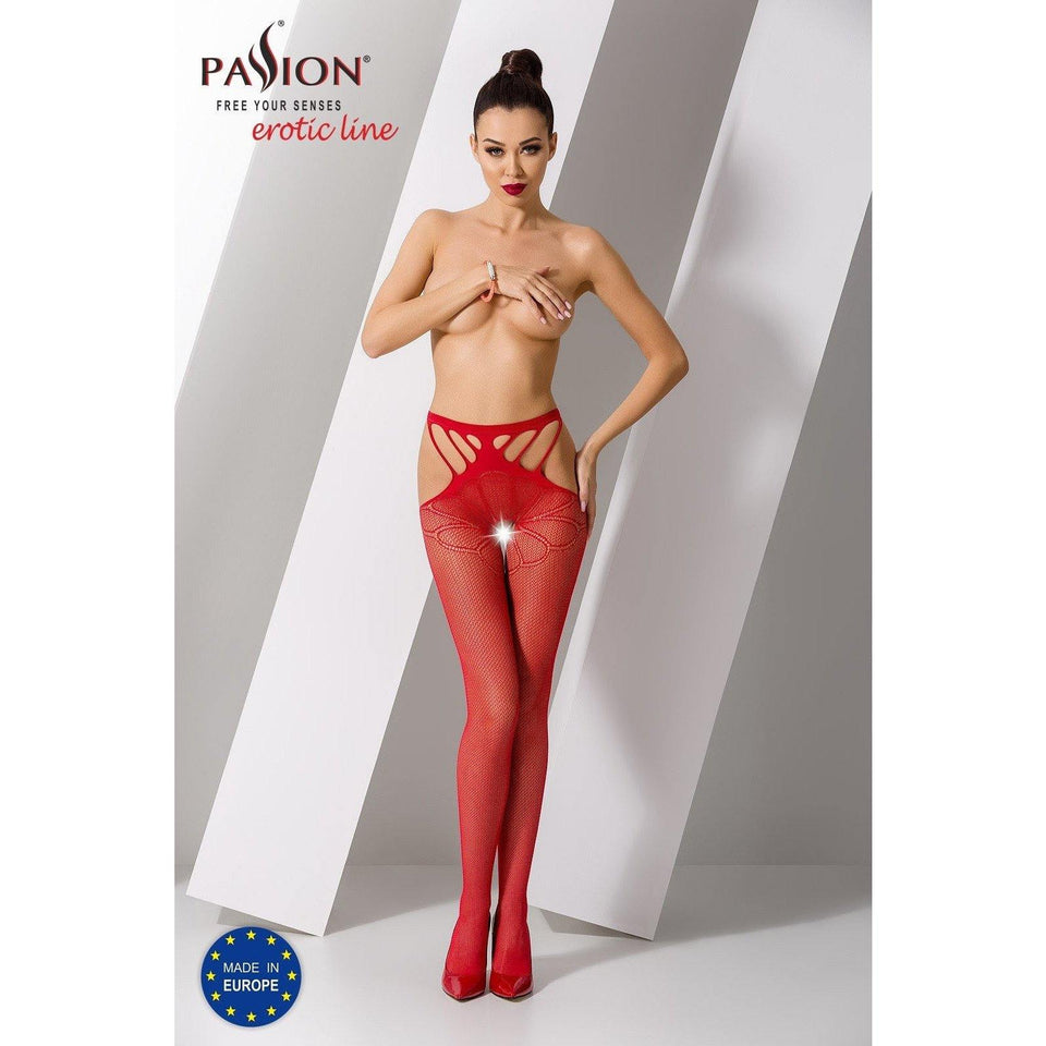 Collant Rouge Sexy S001 -