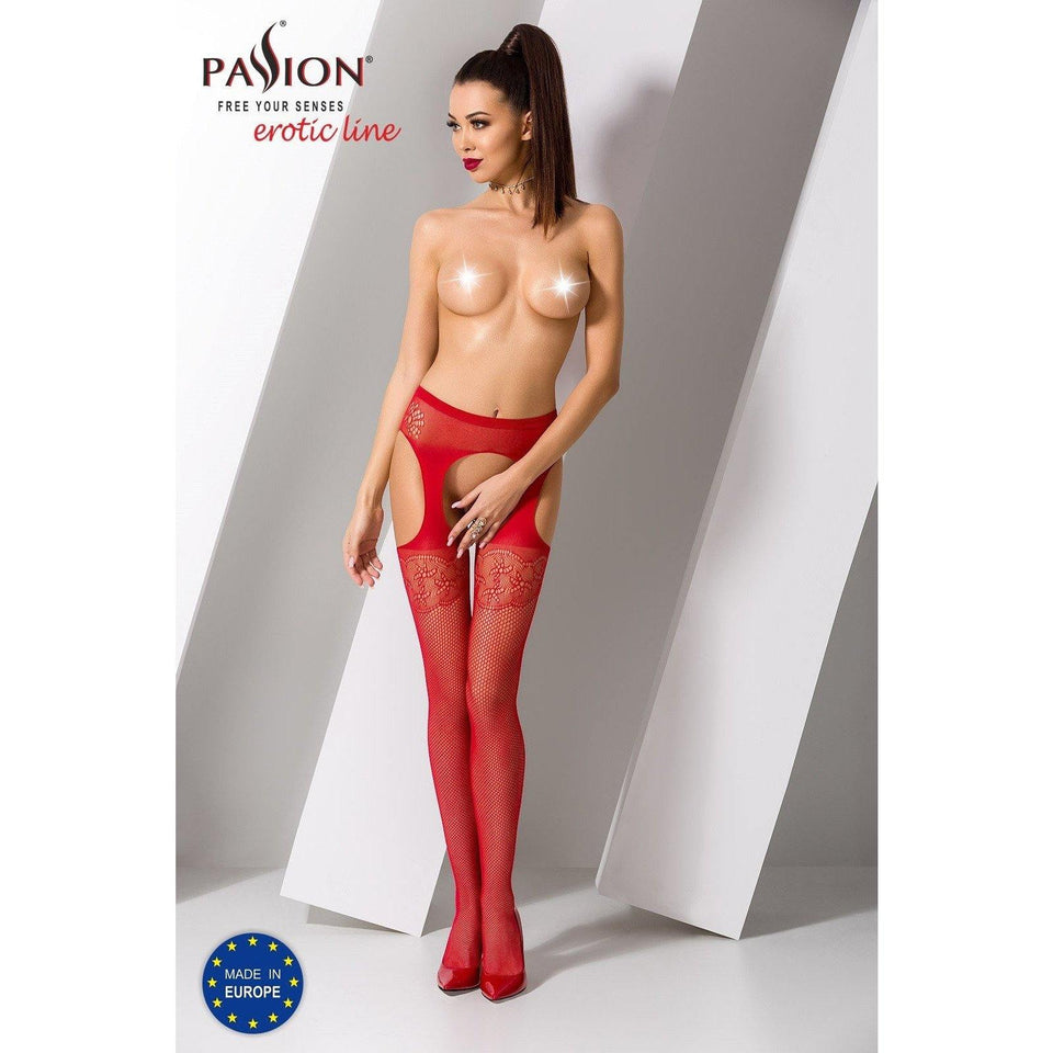 Collant Rouge Sexy S005 -