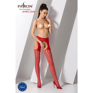 Collant Rouge Sexy S006 -