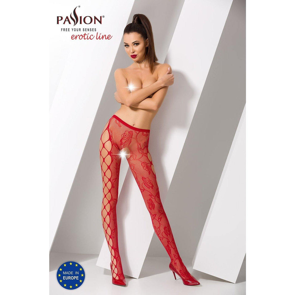 Collant Rouge Sexy S008 -