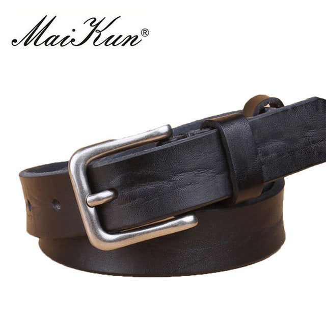 Western Cowboy Style Belts for Women Luxury Brand Designer Belts Men High Quality Brown Men Belt Metal Pin Buckle - Emanzio designer