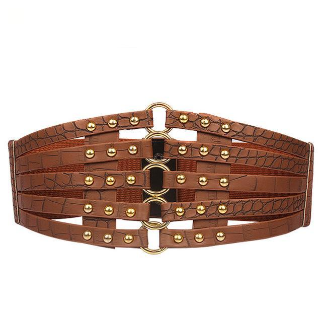 Abstract Rivet Designer Belt - Emanzio designer