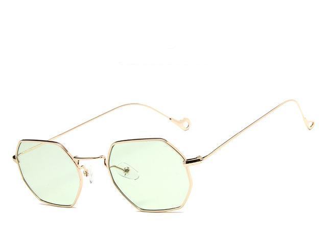Gold Green Polygon  Sunglasses - Emanzio designer