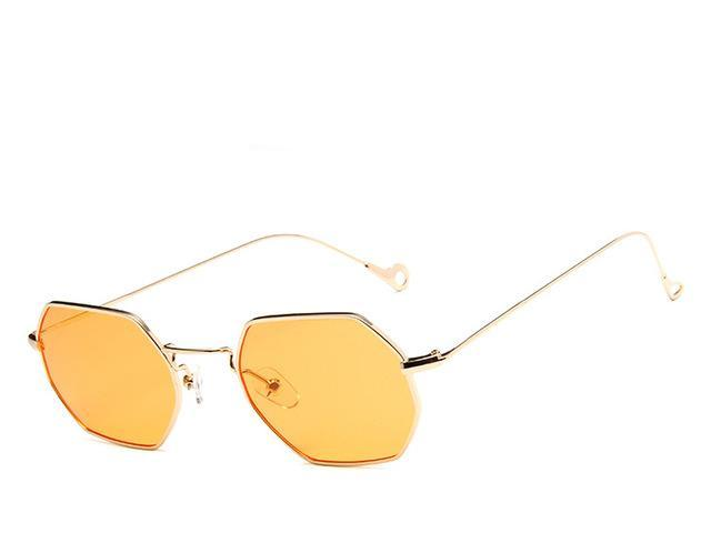 Gold Orange Polygon  Sunglasses - Emanzio designer