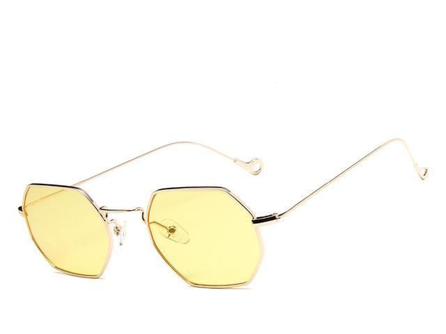 Gold Polygon  Sunglasses - Emanzio designer