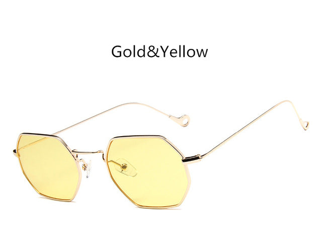 Gold Purple Polygon  Sunglasses - Emanzio designer