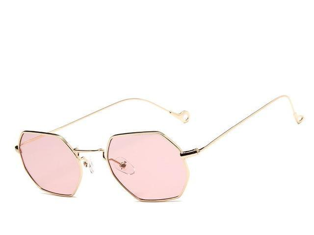 Gold Pink Polygon  Sunglasses - Emanzio designer