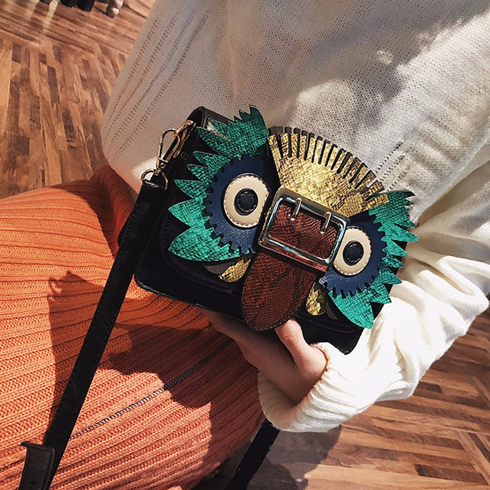 Sofia Owl Shoulder Bag - Emanzio designer