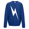 Leopard Print Lightning Bolt Crew Neck - Available in Navy Tee