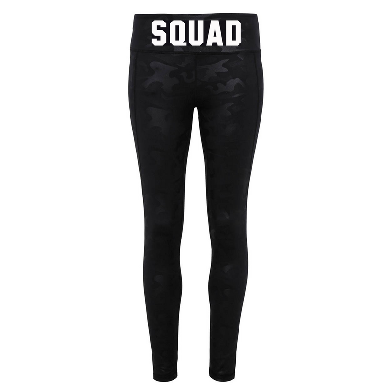 SQUAD Leggings - Available in Black Camo Print