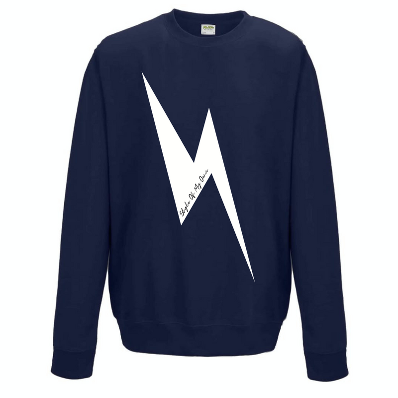 Lightning Bolt Sweatshirt - French Navy