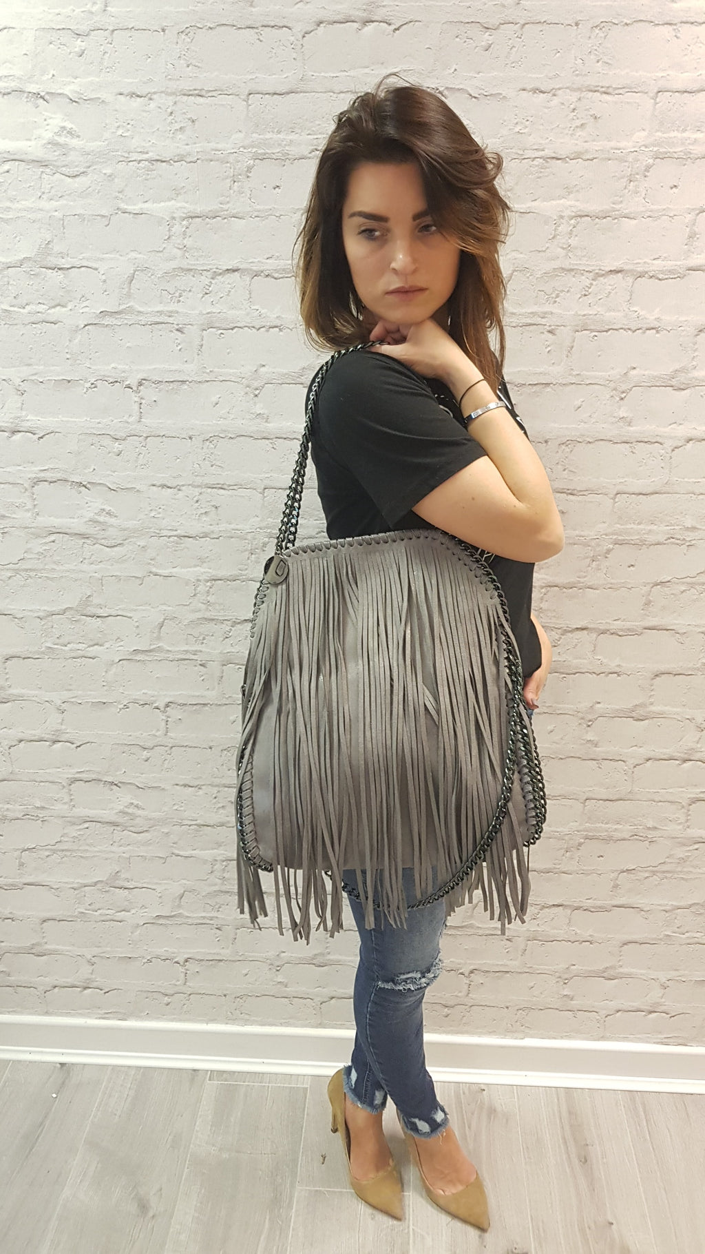 Robyn Large Tassel Tote