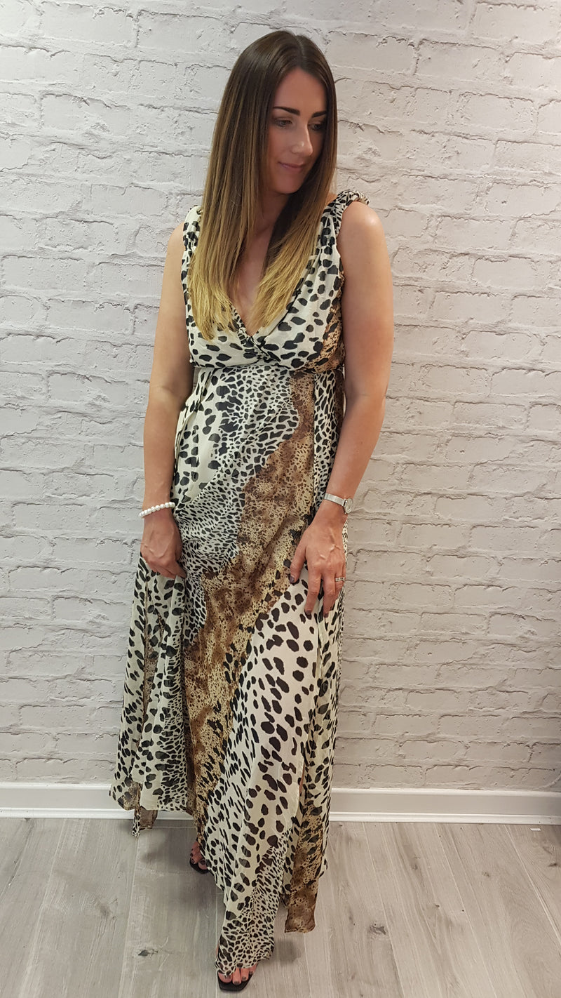 Mel Leopard Maxi Dress - SIZE 14