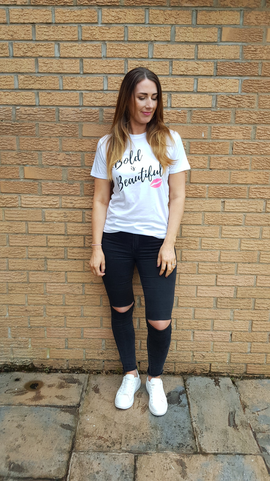 Slogan Tee Bold is Beautiful (in aid of the charity Refuge)
