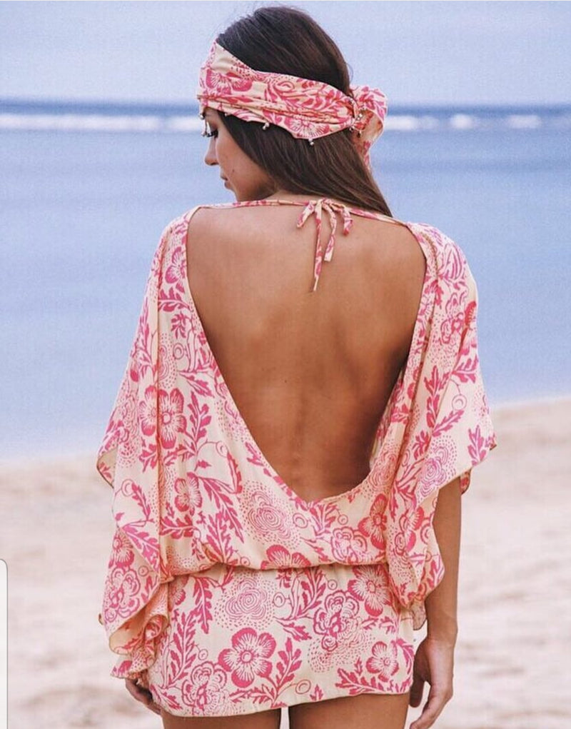 Fi Blue Backless Kaftan
