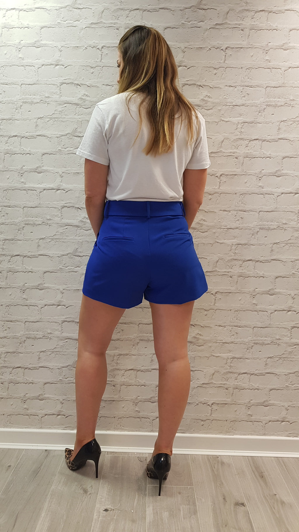 Georgia Tailored Shorts – Royal Blue